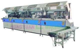 Full Automatic 4 Color Cylindrical Screen Printing  Machine For Bottle